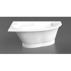 Akmens masės vonia VISPOOL ORTE 169 x 112 cm