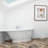 Akmens masės vonia VISPOOL TREVI 140, 145, 150 cm