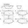 Akmens masės vonia VISPOOL GEMMA-3L 195 x 101 cm