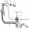 Vonios sifonas VIEGA SIMPLEX prailgintas, automatinis