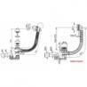 Vonios sifonas RAVAK su persipylimo mechanizmu