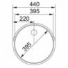 Nusausinimo plokštuma FRANKE ROX 604-39 su ventiliu