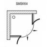 Pusapvalė dušo kabina RAVAK SmartLine SMSKK4