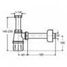 Praustuvo sifonas VIEGA be ventilio, 32 mm